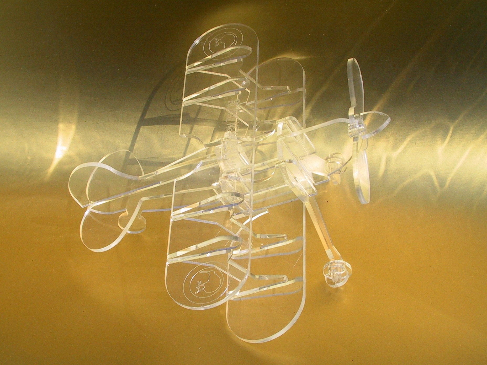 Biplane Laser Cut Free CDR Vectors Art