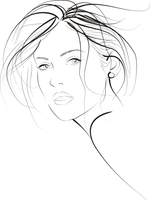 Young Fashion Woman Free CDR Vectors Art