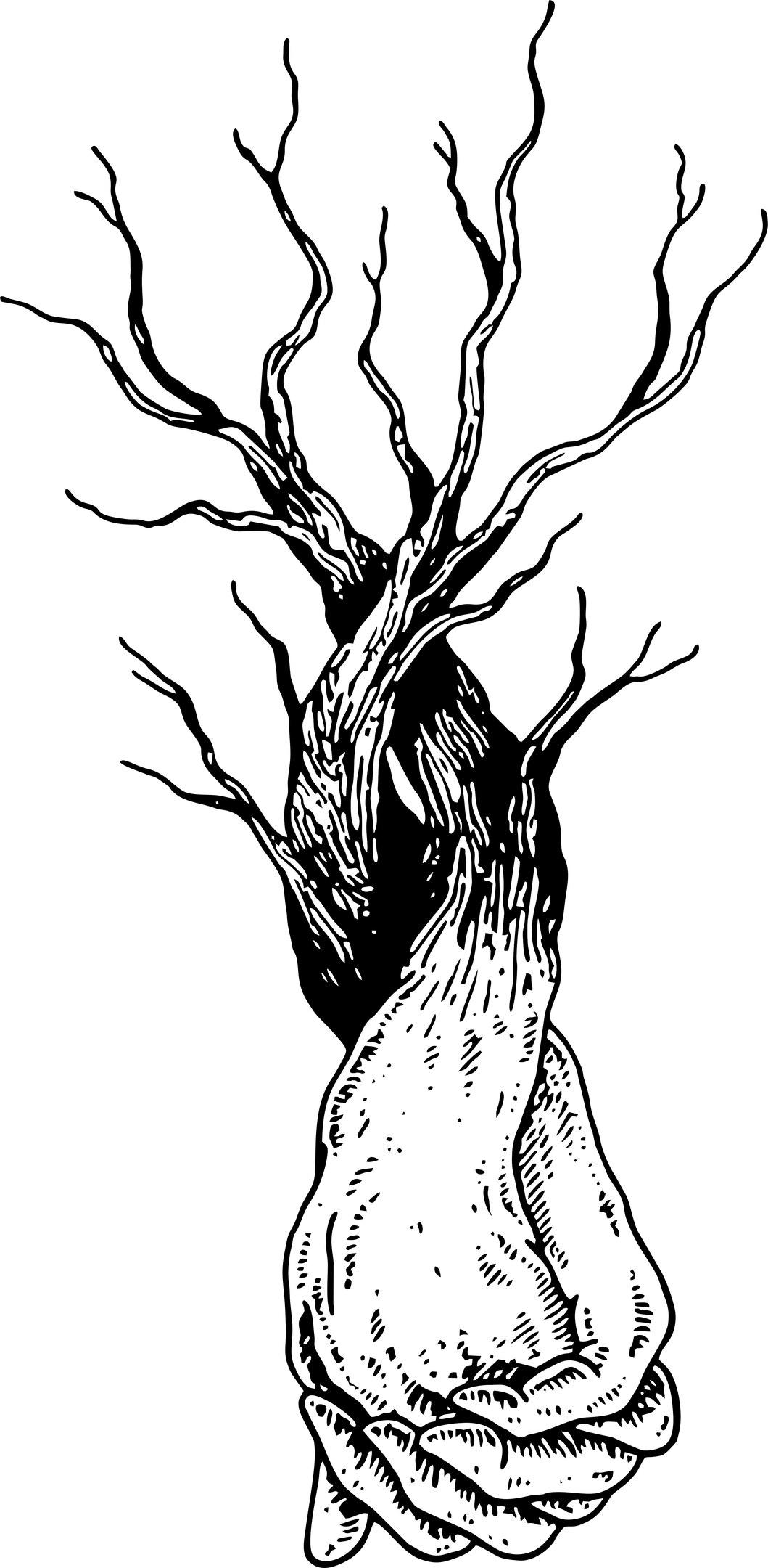 Hands Tree Free CDR Vectors Art