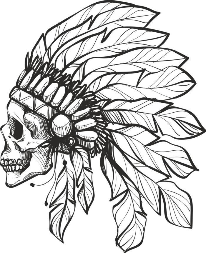 Handdrawn Skull Free CDR Vectors Art