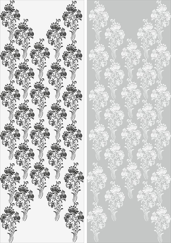 Abstract Flowers Sandblast Pattern Free CDR Vectors Art