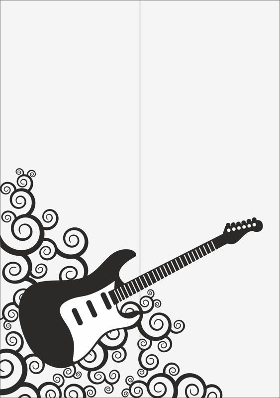 Guitar Sandblast Pattern Free CDR Vectors Art