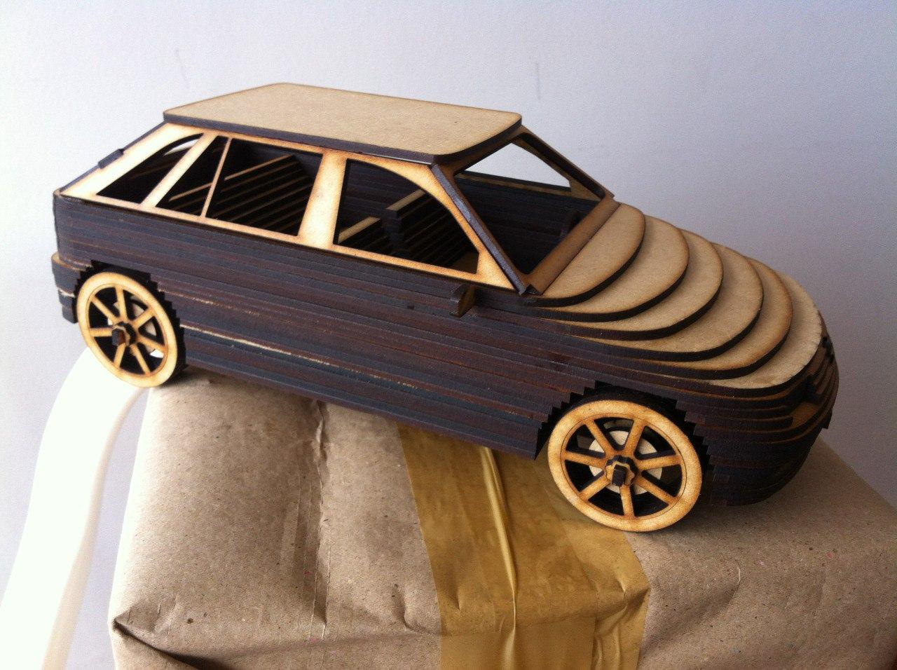 Car Mdf 3D Laser Cutting Free CDR Vectors Art