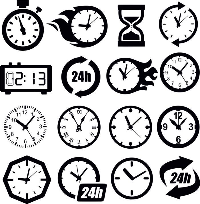 Clock Cdr Maket Dlya Lazernoy Rezki Free CDR Vectors Art