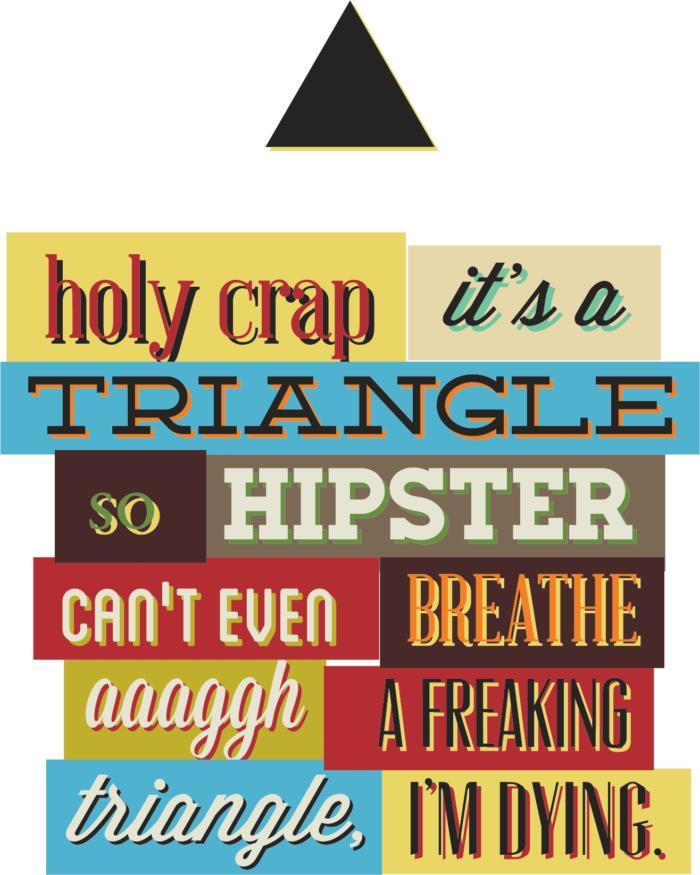 Triangle Print Free CDR Vectors Art
