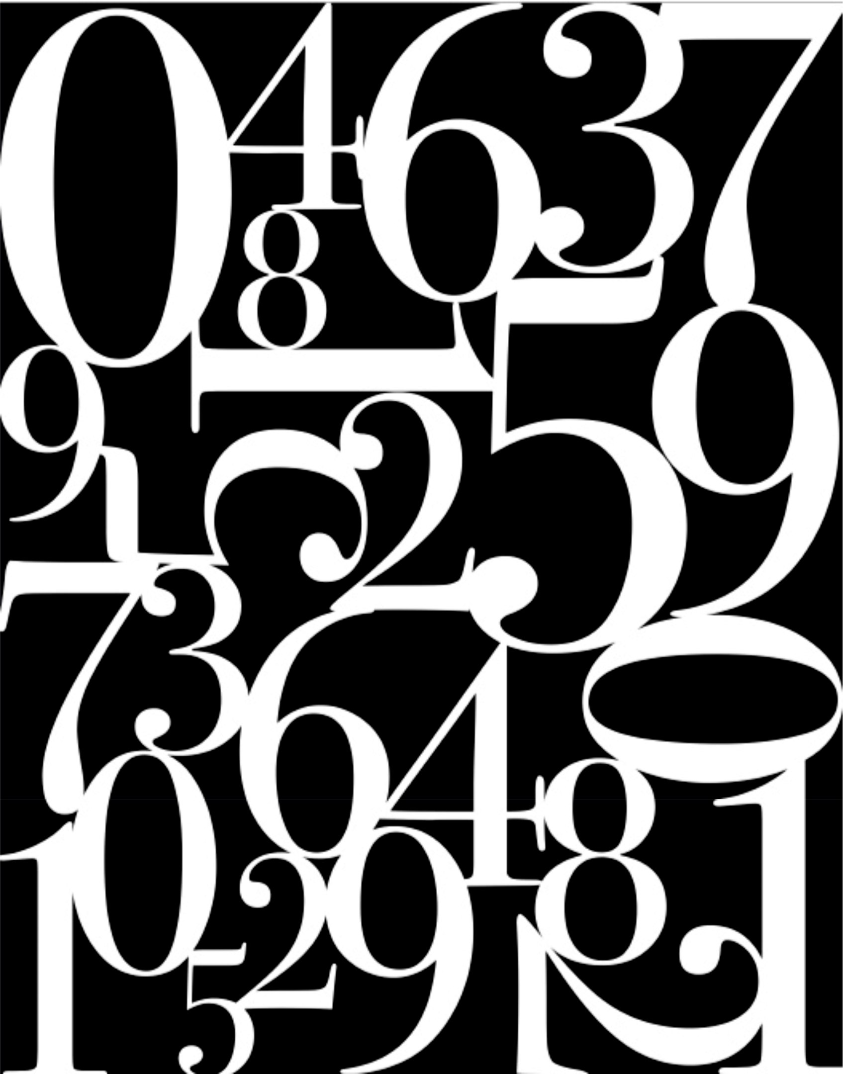 Abstract Number Wall Free CDR Vectors Art