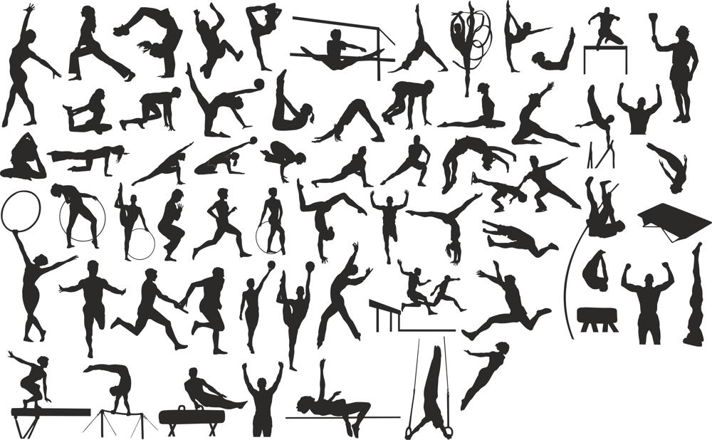 Sports Silhouettes Free CDR Vectors Art