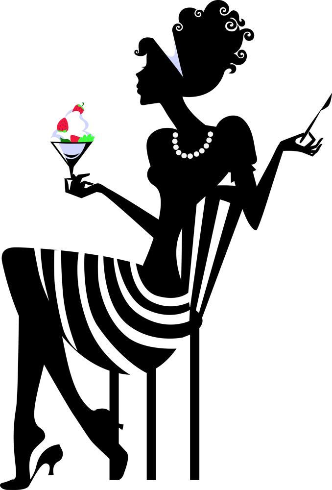 Elegant Woman Silhouette Free CDR Vectors Art