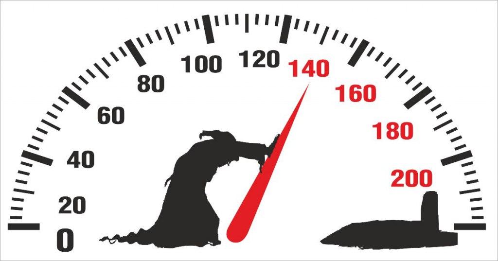 Death pushing arrow of speedometer Car Sticker Free CDR Vectors Art
