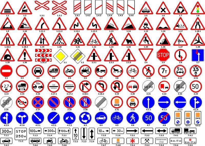 Road Sign Vector Set Free CDR Vectors Art