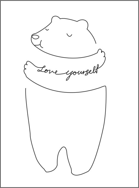 Love Yourself Medved Free CDR Vectors Art