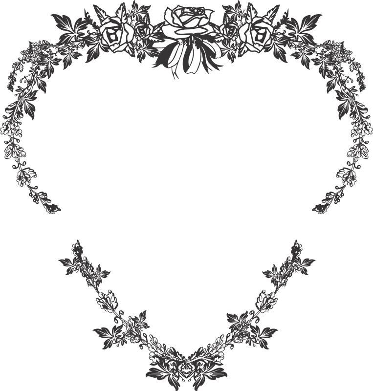 Wild Leaf Strokes Heart Shaped Design Free CDR Vectors Art