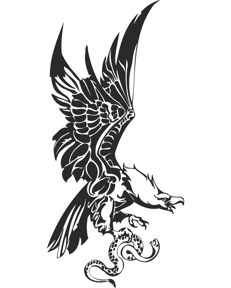 Eagle with Snake in Claws Free CDR Vectors Art