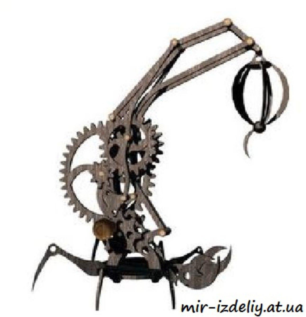 Scorpion Lamp 3D Puzzle Free CDR Vectors Art