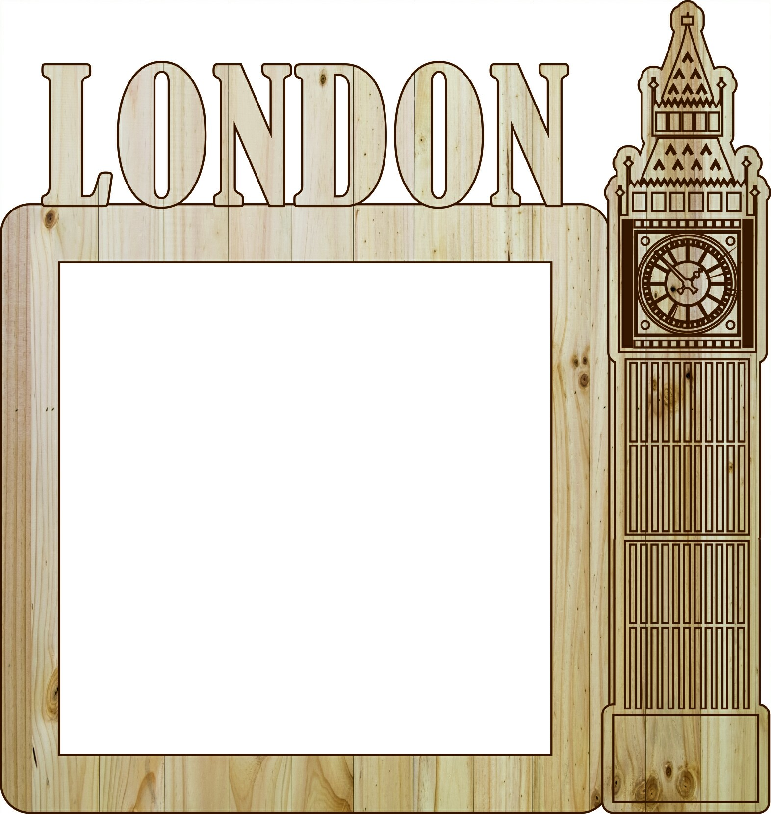 Laser Cut Photo Frame London Free CDR Vectors Art