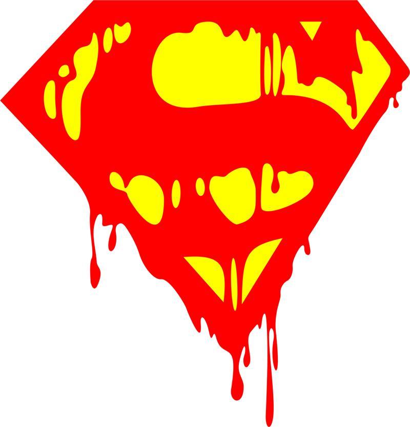 Bleeding Superman Logo Free CDR Vectors Art