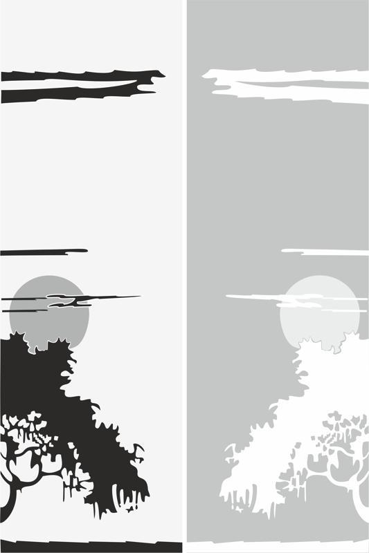 Abstract Scene Sandblast Pattern Free CDR Vectors Art