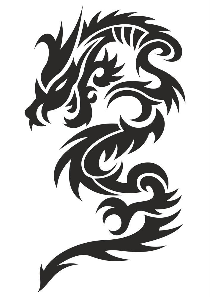 Tattoo Dragon Vector Illustration Free CDR Vectors Art