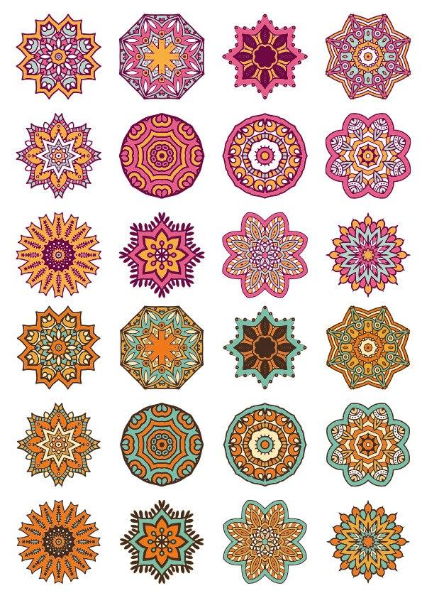 Mandala Ornaments Circles Free CDR Vectors Art