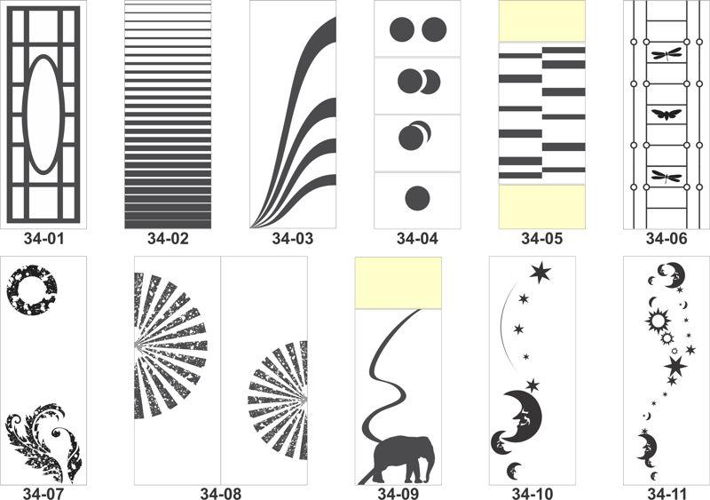 Artistic sandblasting patterns Free CDR Vectors Art