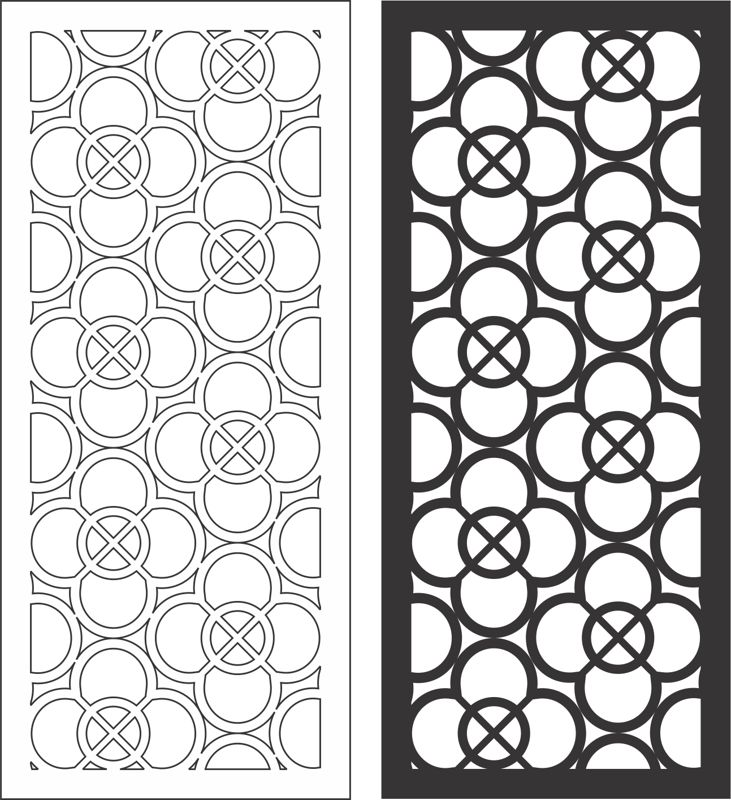 Wall Decor Panels Modern Free CDR Vectors Art