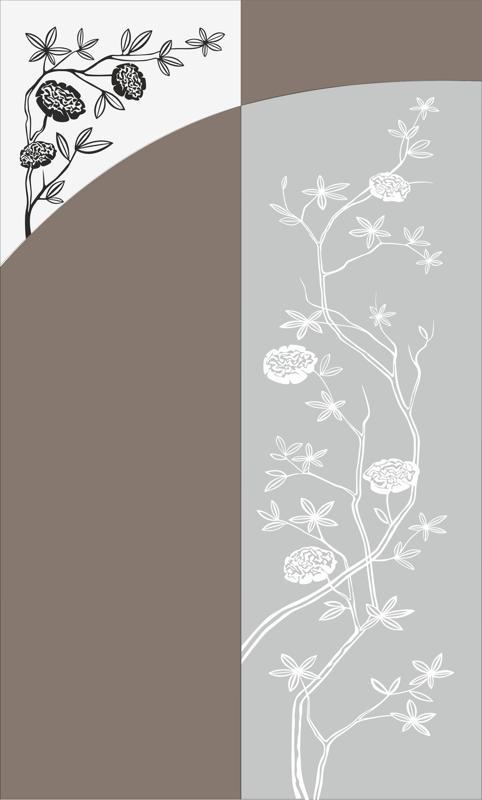 Flowers Bush Sandblast Pattern Free CDR Vectors Art