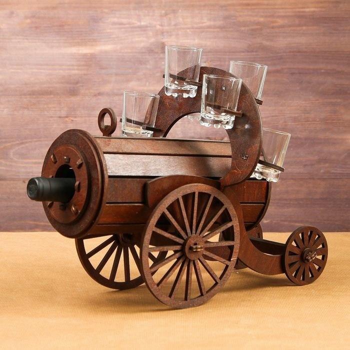 Mini bar wooden Cannon Free CDR Vectors Art