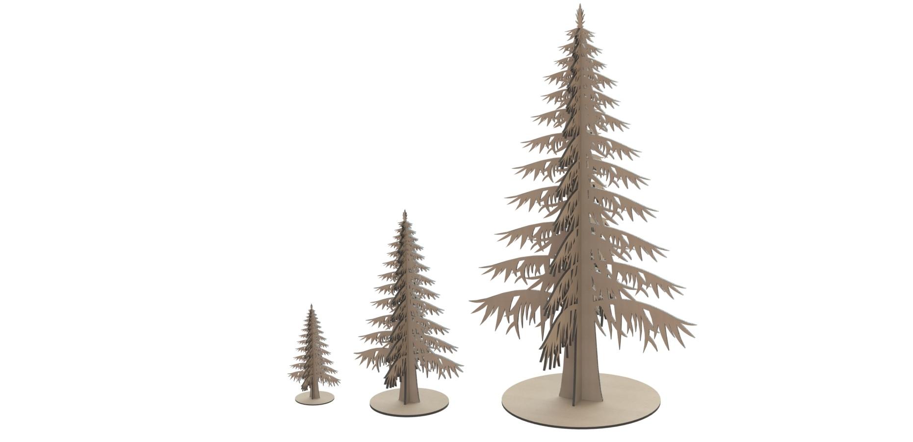 Laser Cut Mdf Wooden Tree Free CDR Vectors Art