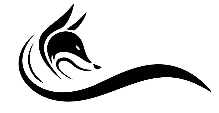 Fox head black logo Free CDR Vectors Art