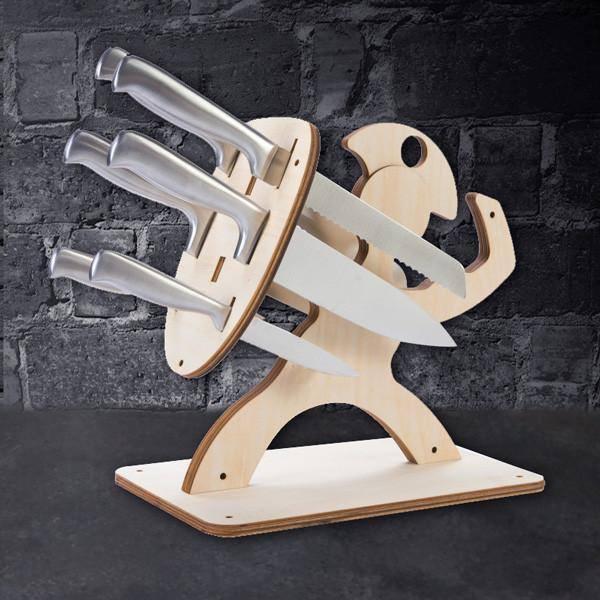 Spartan Knife Block Diy CNC Plans Free CDR Vectors Art