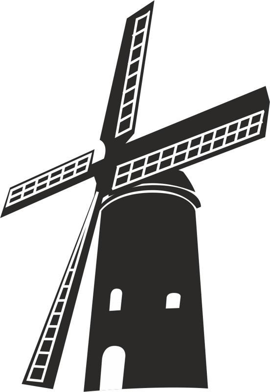 Windmill Free CDR Vectors Art