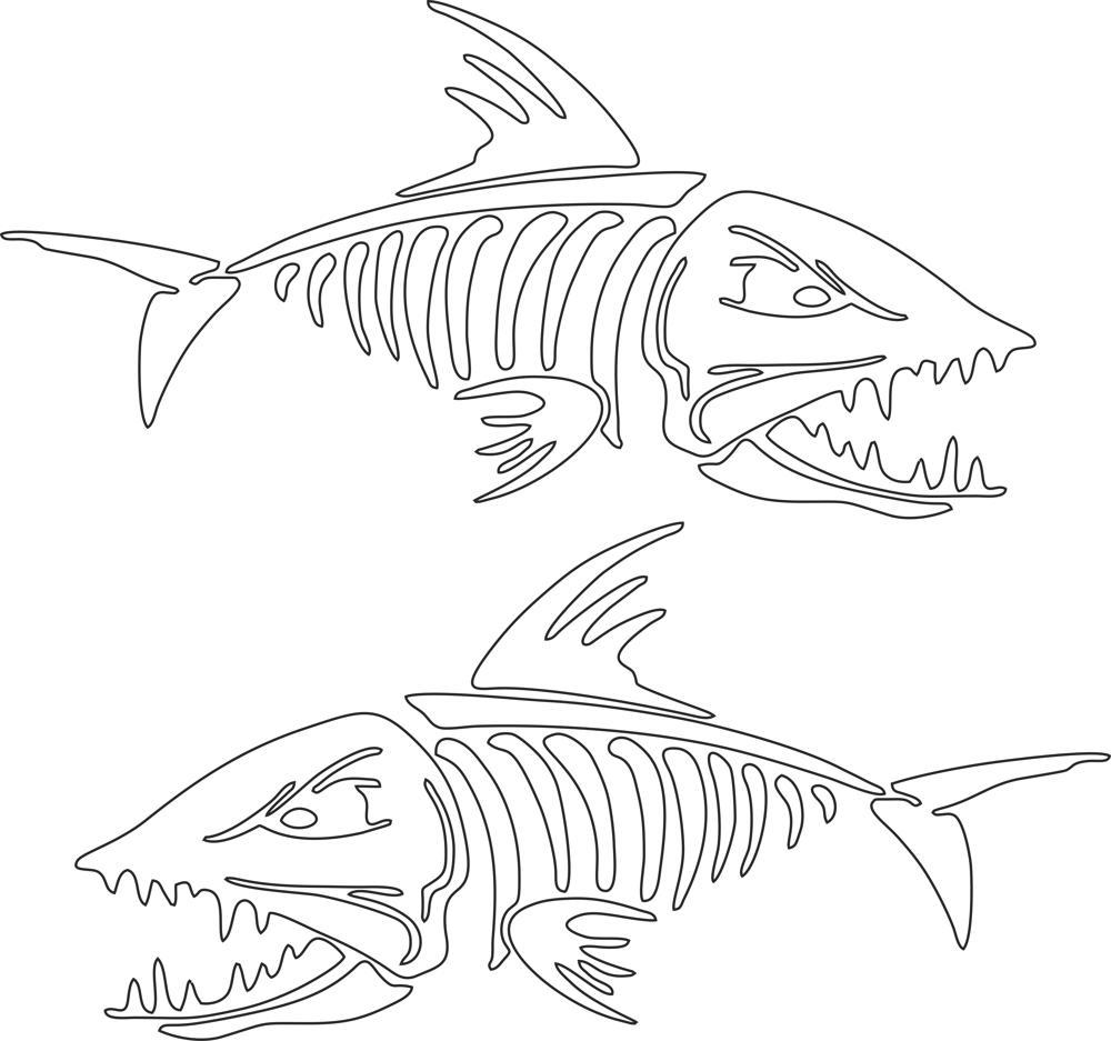Fish Skeleton Free CDR Vectors Art