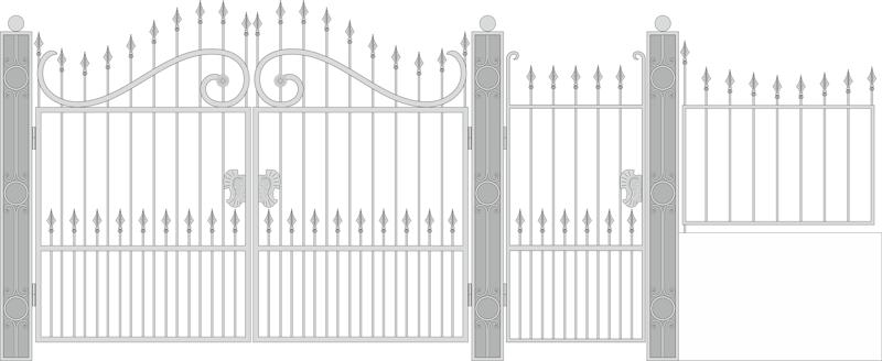 Design Forged Gate Wicket Free CDR Vectors Art