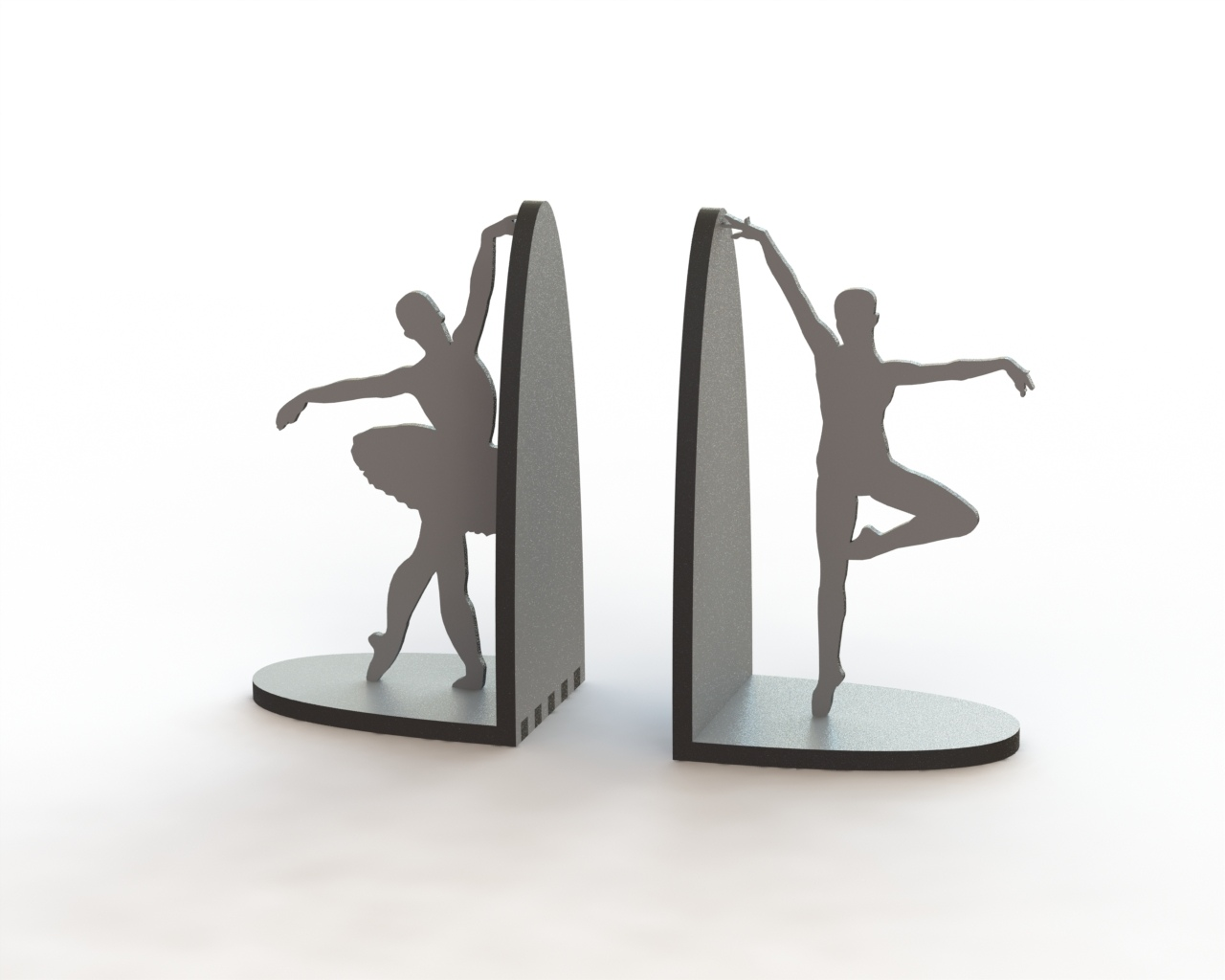 Laser Cut Ballerina Pair Book Supports Free CDR Vectors Art