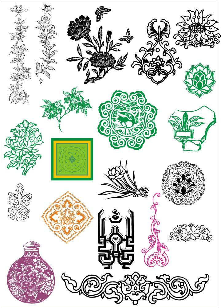 Chinese ancient pattern Free CDR Vectors Art