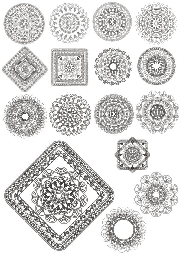 Mandala Ornaments Free CDR Vectors Art