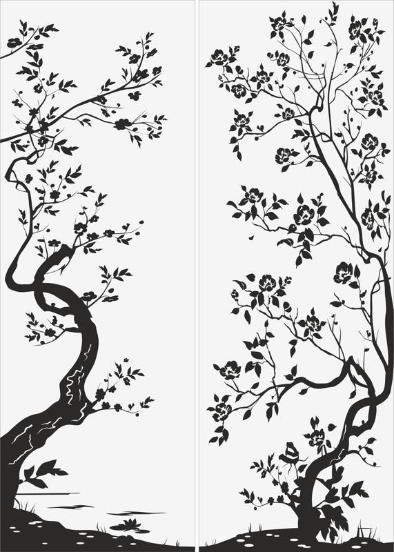 Black Tree Sandblast Pattern Free CDR Vectors Art