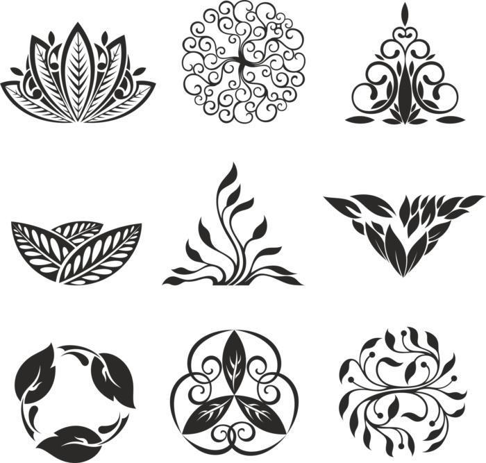 Floral Ornament Elements Free CDR Vectors Art
