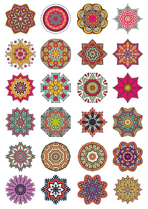 Decorative Elements and Ornaments Vector Set Free CDR Vectors Art