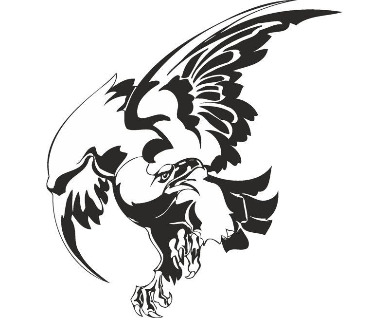 Bird Hawk Vulture Wall Sticker Free CDR Vectors Art