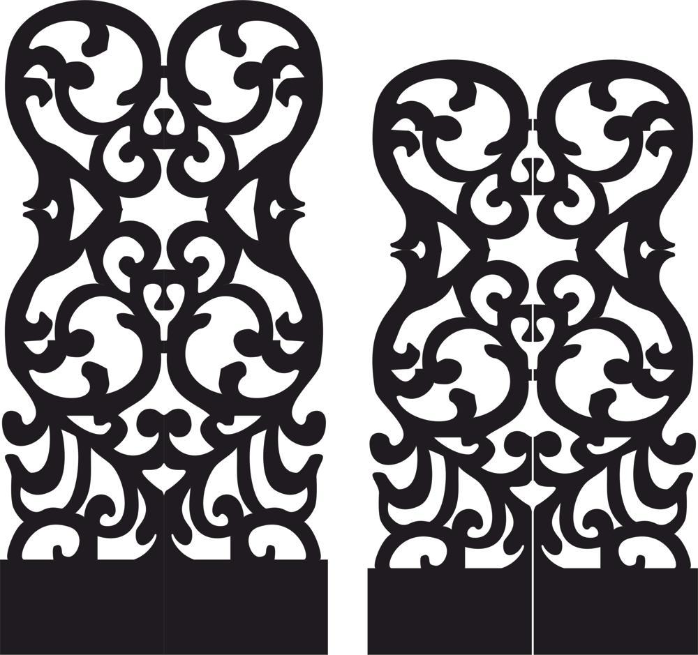 Stencil Folding Screen Free CDR Vectors Art