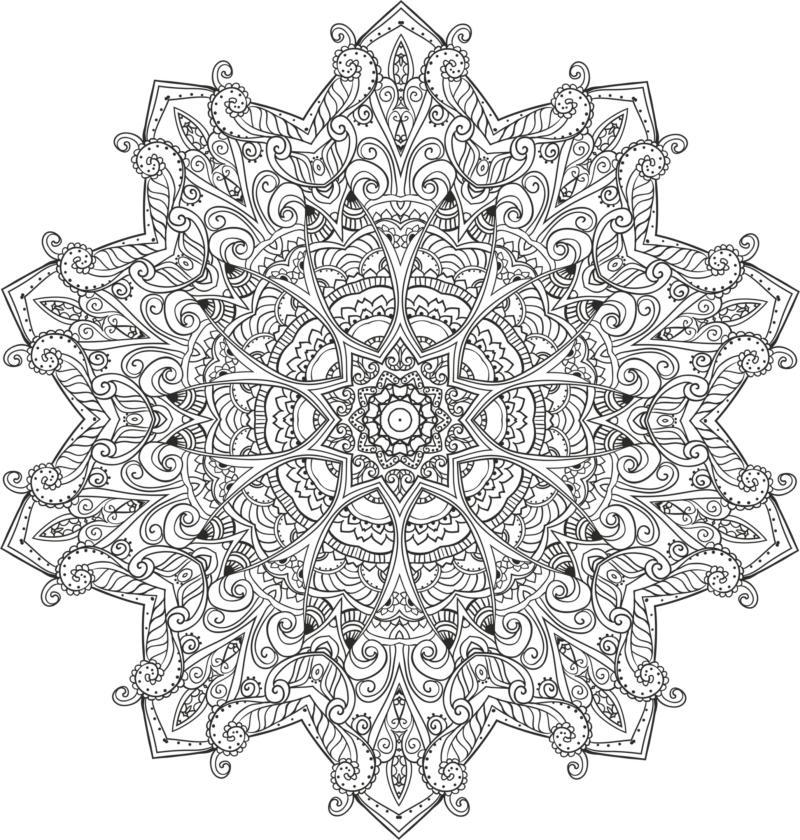 Myst Mandala Free CDR Vectors Art