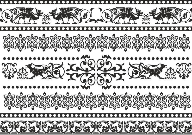Celtic Patterns and Ornament Lace Patterns Free CDR Vectors Art
