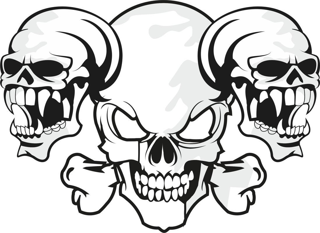 Horror Skull Free CDR Vectors Art
