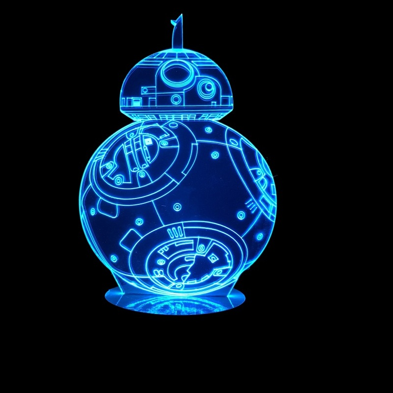 3D Hologram BB8 Robot LED Lamp Free CDR Vectors Art