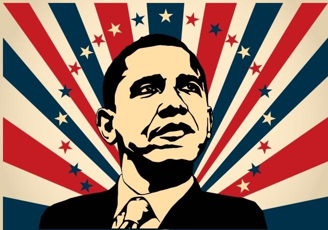 Barack Obama Magnets Free CDR Vectors Art