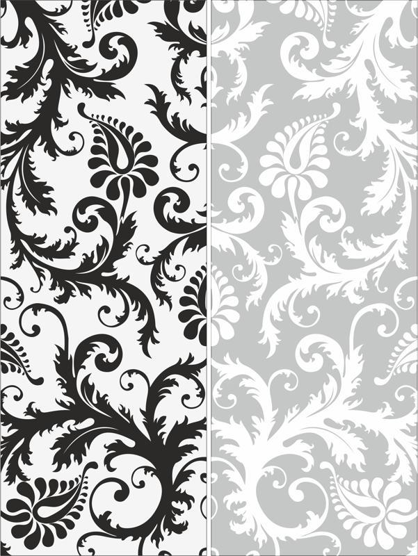 Sandblast Pattern Floral Free CDR Vectors Art