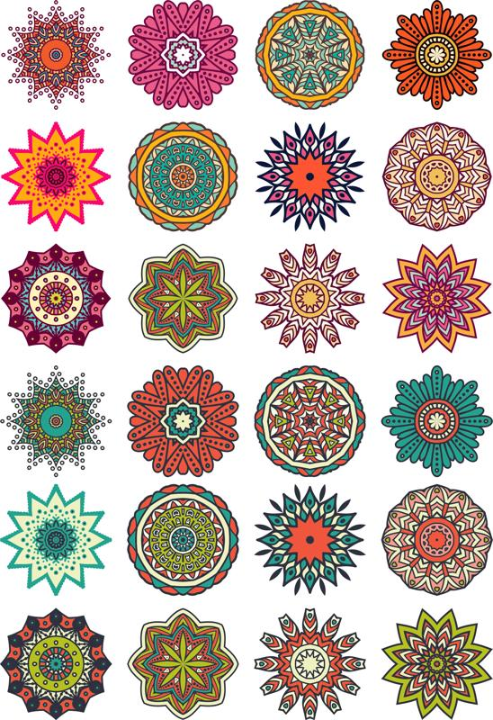Mandala Flower Motif Free CDR Vectors Art