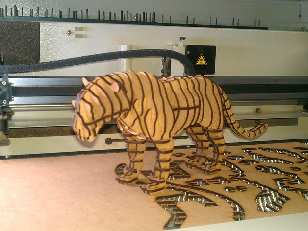 Tiger 3d Puzzle Free CDR Vectors Art