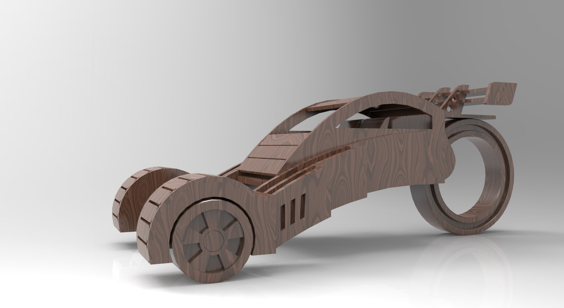 Concept Car 3D Puzzle Free CDR Vectors Art